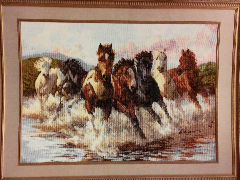 Набор вышивки крестом лошади 98